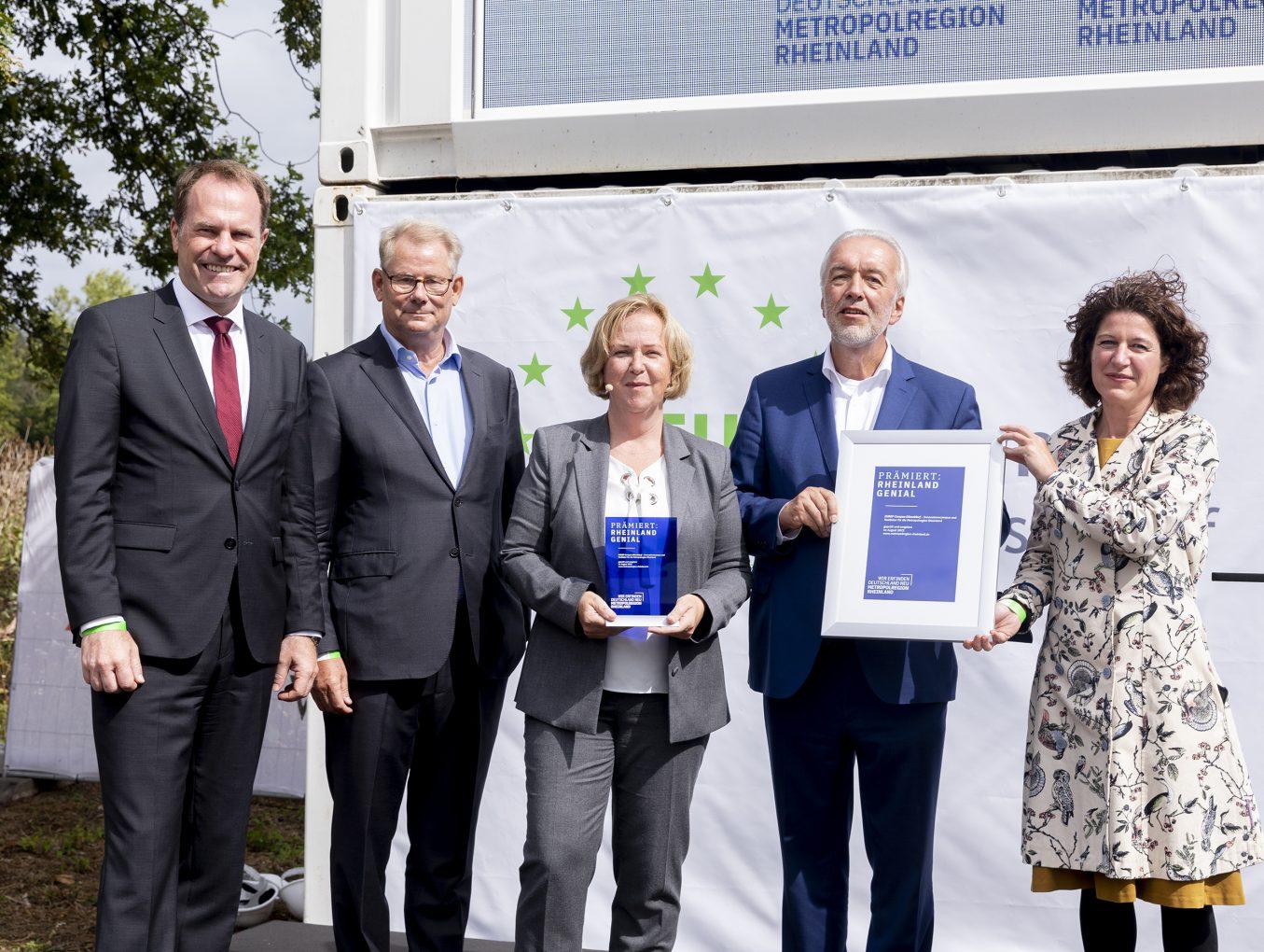 Metropolregion zeichnet den EUREF Campus mit dem Rheinland Genial Award aus