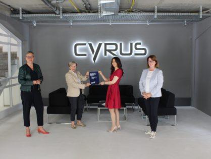 Cyrus Technology und digitalHUB Aachen wurden mit dem Innovationspreis RHEINLAND GENIAL ausgezeichnet