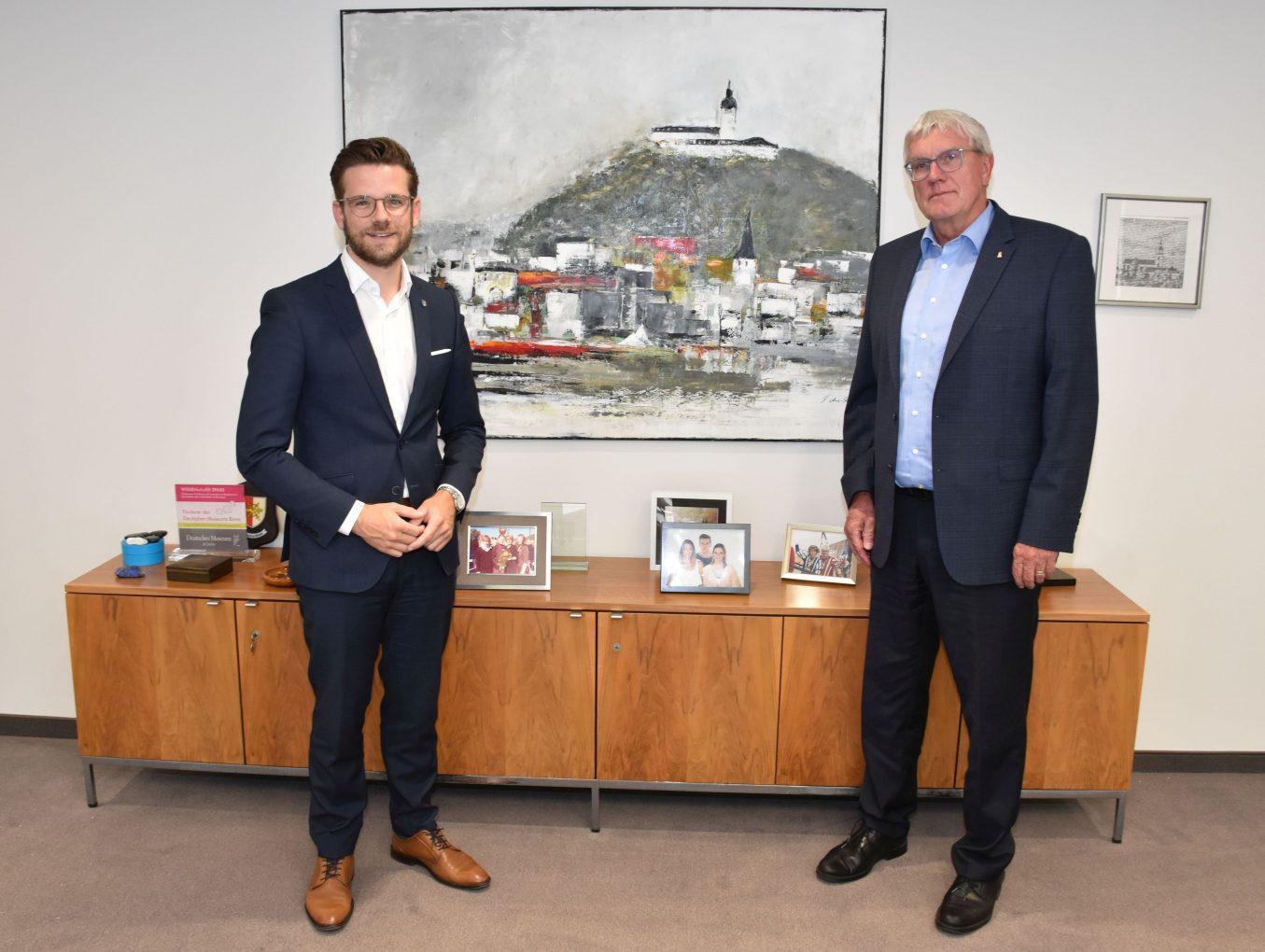 Zusammen für die Metropolregion Rheinland: Mönchengladbacher Oberbürgermeister besuchte Landrat Schuster